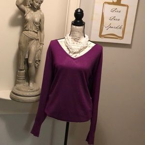 💋| Lane Bryant |💋 Purple V-Neck Sweater